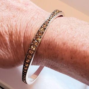 Brighton Crystal Accent Bangle Bracelet